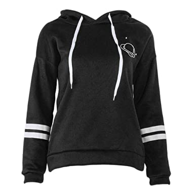 c3d086077 Ruda Hoodies for Girls Women Long Sleeve Striped Pullover Planet ...