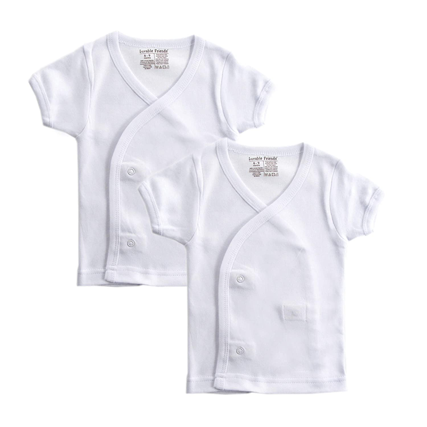 Luvable Friends Baby-Boys Side Snap Shirts T-Shirt Set