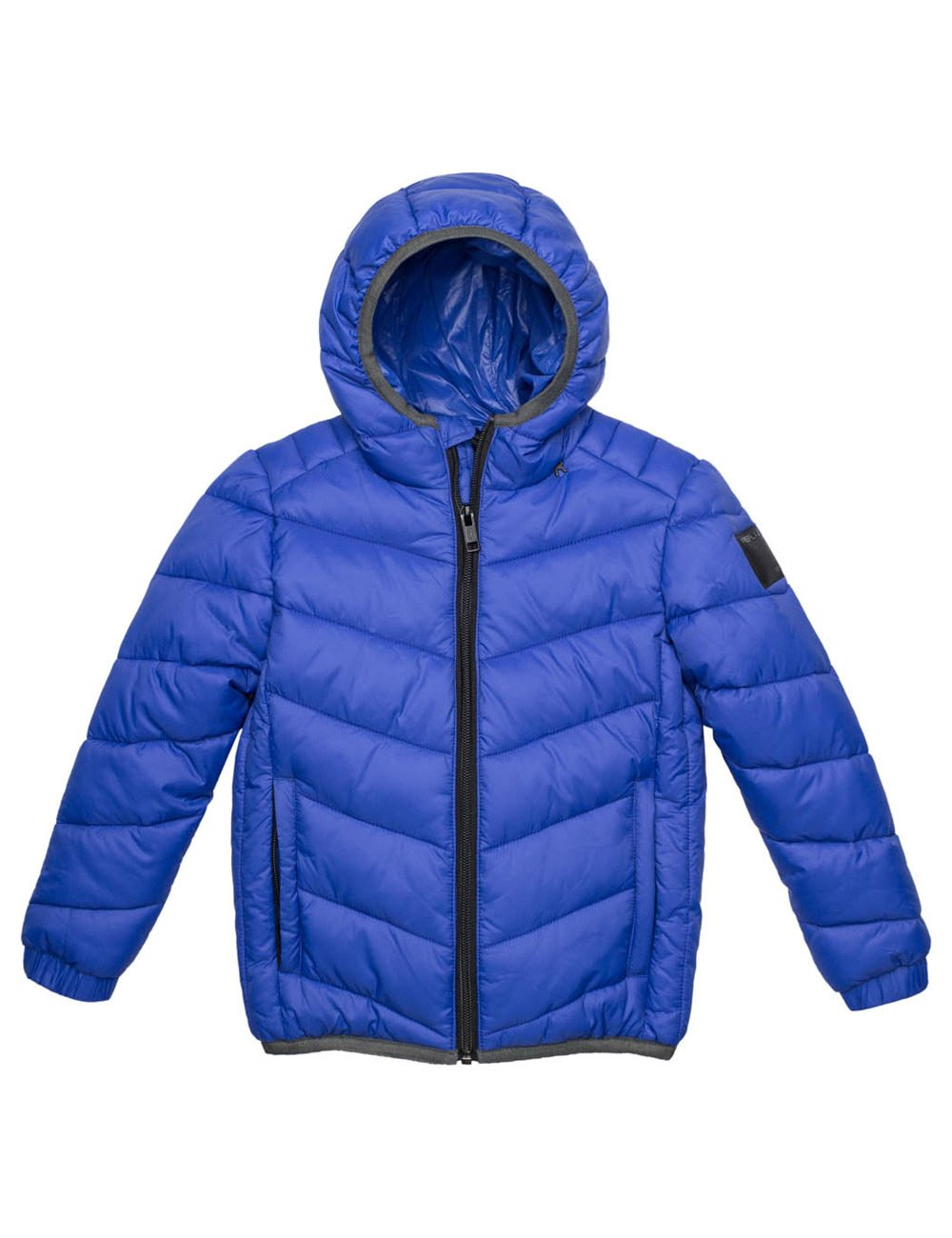 Replay Boy's Blue Quilted Jacket in Size 6 Years Blue