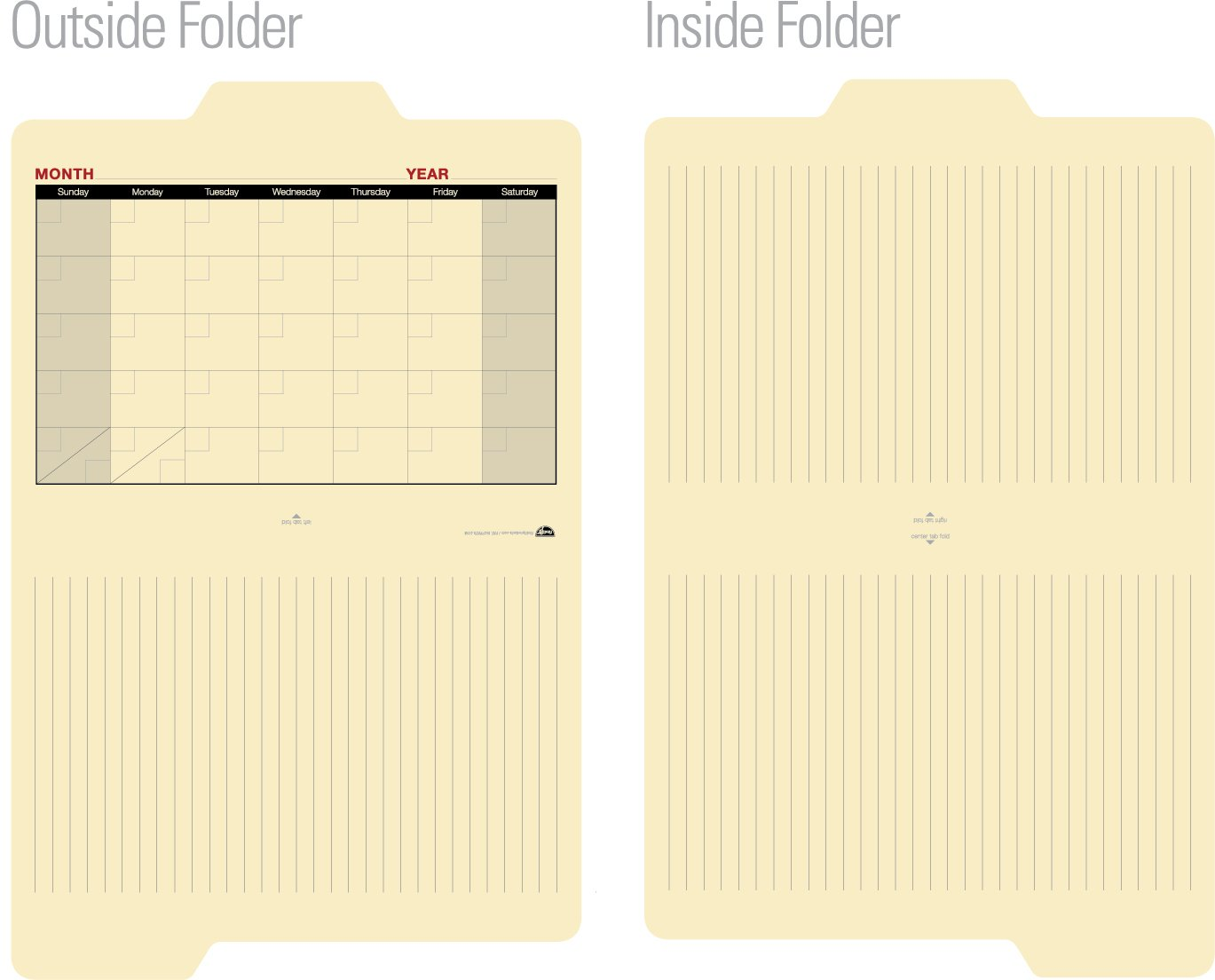 Find-It Calendar File Folders, 12 Pack, Manila (FT07465) by Find It (Image #3)