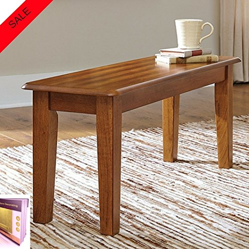 Small Bench Seat For 2 Great For Entryway Kitchen And Dining Room Tables Simple Design Assembly Required Made Of Engineering Wood For Indoor Use Only Finish Brown And E-book By TSR