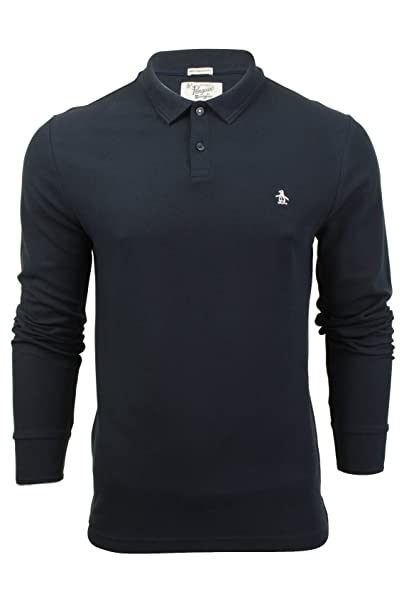 ORIGINAL PENGUIN Hombre Camiseta Slim Fit Longsleeved Winston Polo ...
