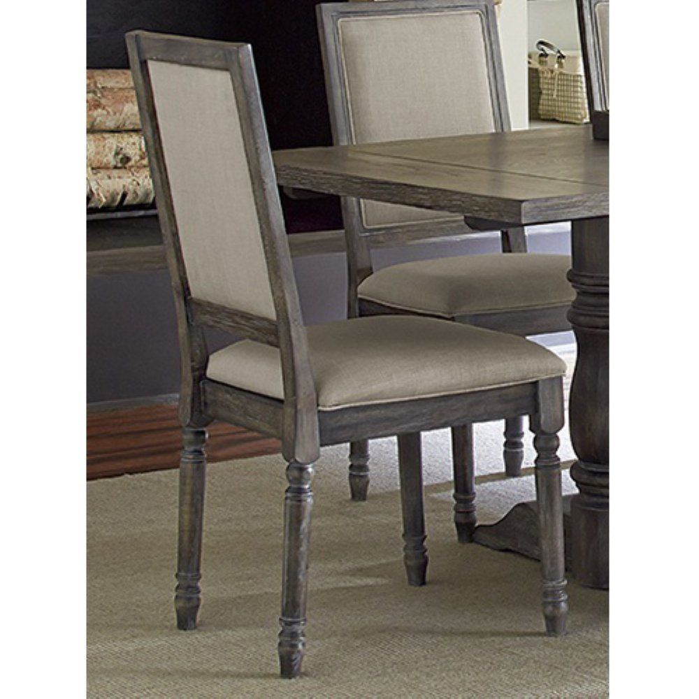 Amazon.com   Progressive Furniture Muses Upholstered Back Chair, Dove Grey    Chairs