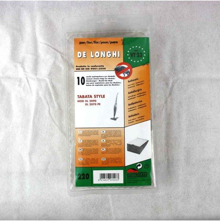Elettrodelta Q11 10 SACCHETTI ASPIRAPOLVERE DE LONGHI TABATA XL