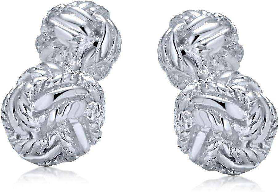 Vergoldet Solide 925 Sterling Silber Doppel Knoten Gewebt Ball Geflochten Twist Kabel Shirt Manschettenkn/öpfe F/ür M/änner Executive Geschenk