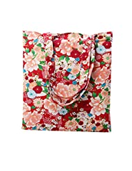 Caixia Women's Cotton Funny Pattern Canvas Tote Shopping Bag (Effel/No closure)