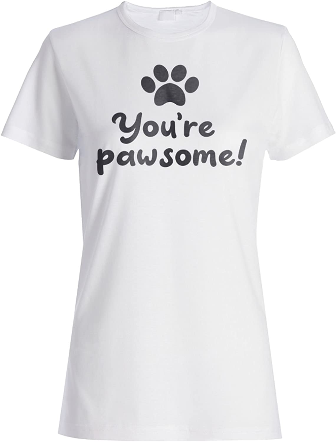 INNOGLEN Youre Pawsome Ladies T-Shirt Tee t440f
