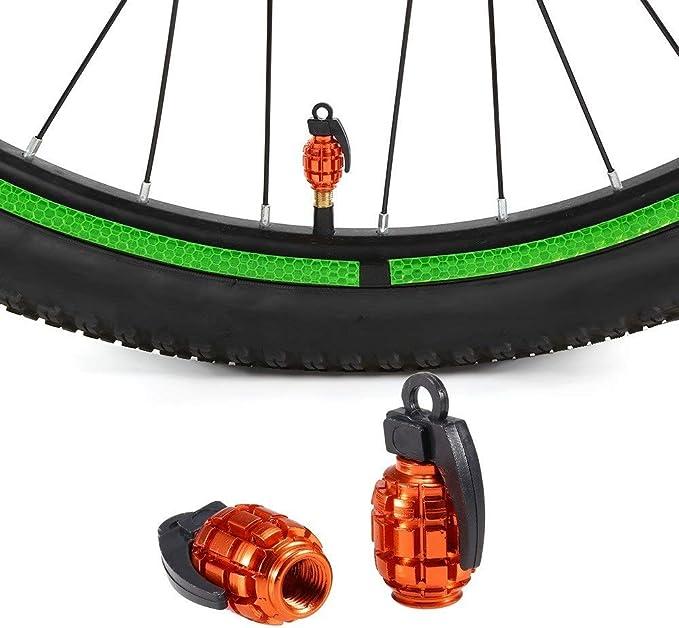 Tianzhiyi Fahrrad wesentliche Teile 2 St/ücke Fahrrad Motorhaube luftventil Abdeckung Reifen ventil staubschutz f/ür Mountainbike rennrad Motorrad Fahrrad zubeh/ör Color : Orange+red