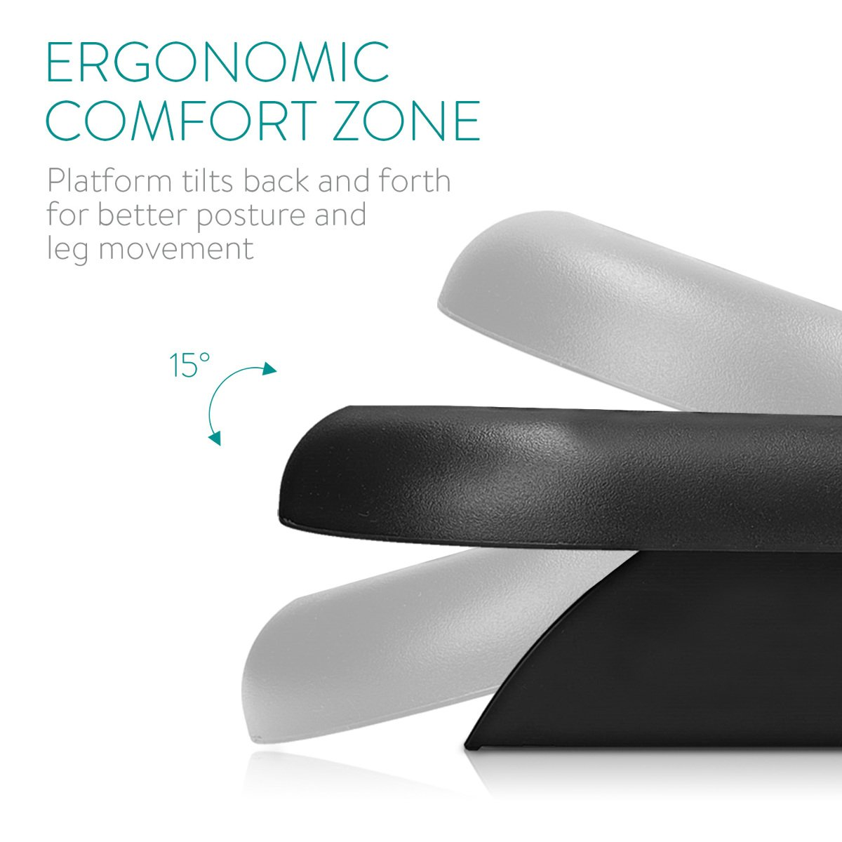 Soporte para pies inclinable Apoya pies ergon/ómico con Efecto Masaje Navaris reposapi/és de Oficina Base para pies en Negro