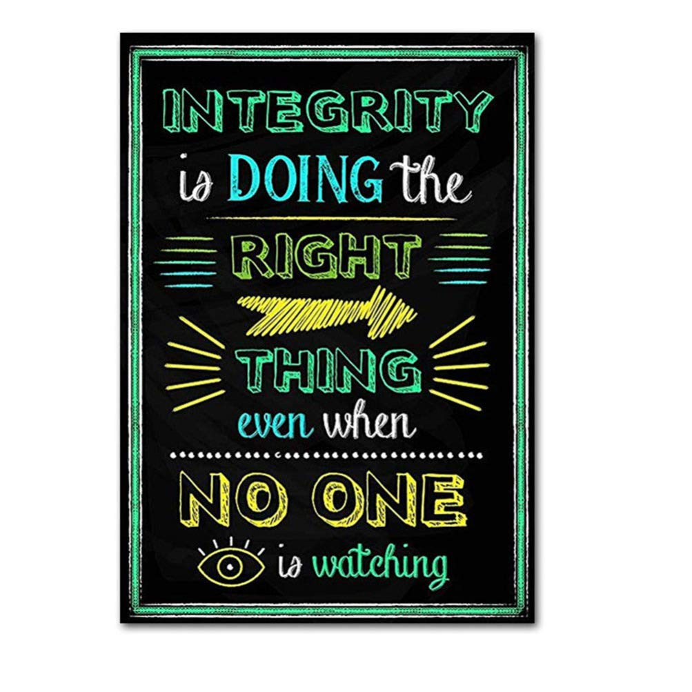 Without Frame Healifty 10pcs Motivational Posters Inspirational Quote Wall Art for Classroom Office Decorations Creative Chalkboard Designs 30 40cm