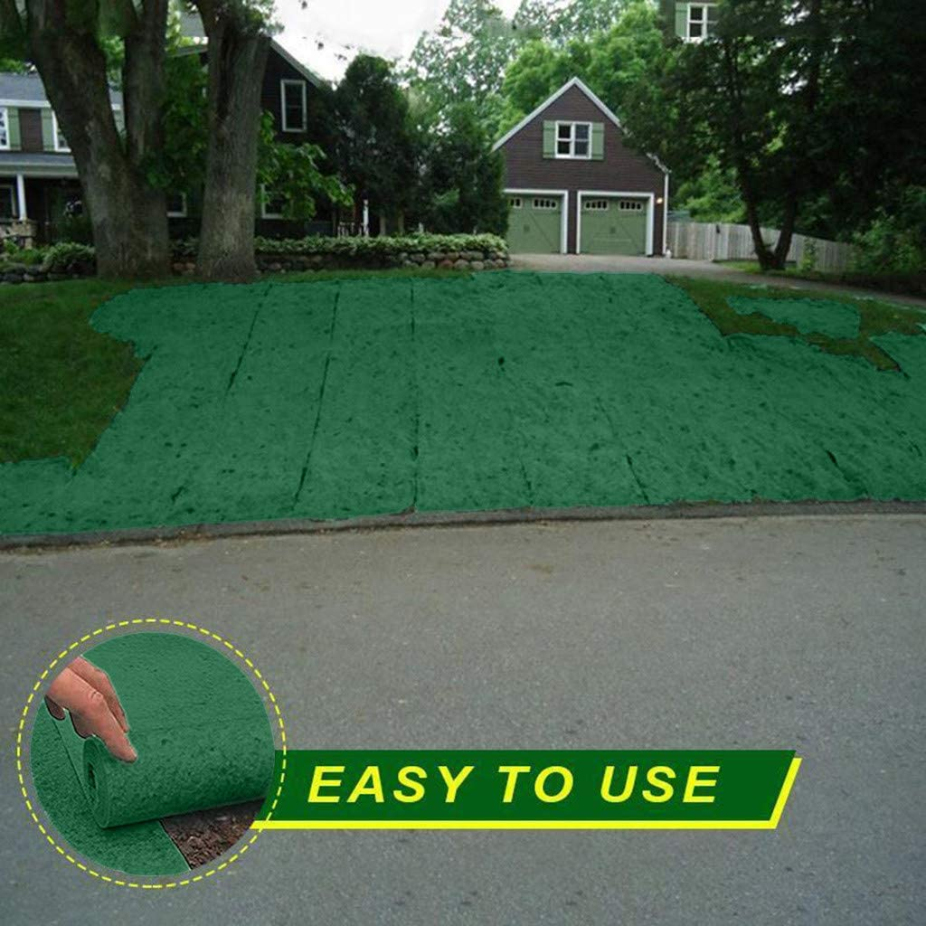 Seed Mat Roll,Biodegradable Grass Seed Mats Plant Capillary Matting for Lawns Just Roll Water /& Grow Not Fake or Artificial Grass 200x1000cm Lawn Planting Fertilizer Paper