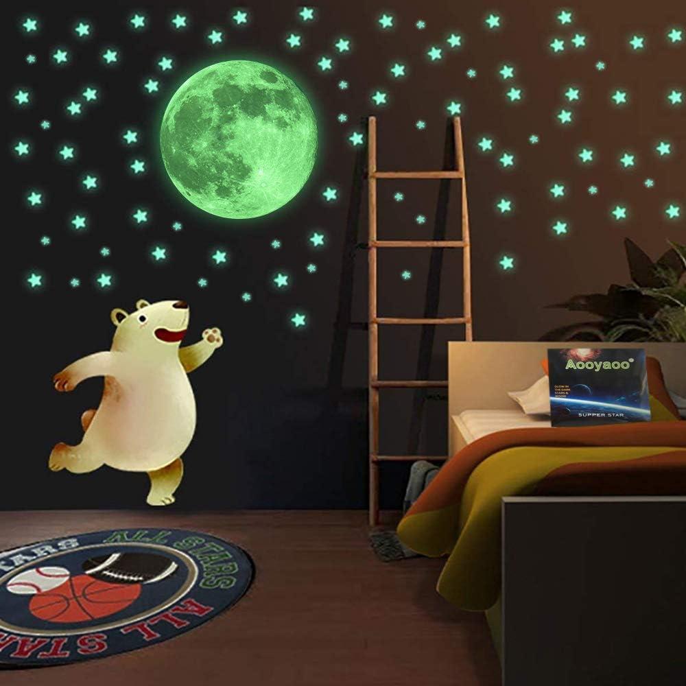 Calcomanias decoración brillante para niños.Estrellas