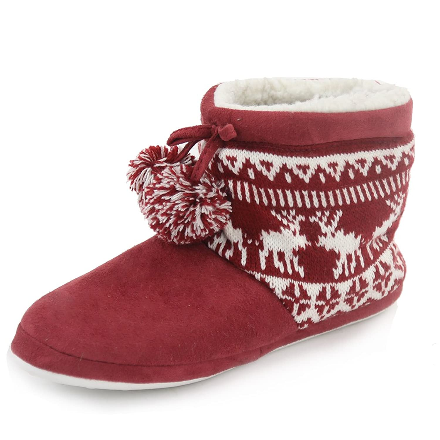 Faux Fur Indoor Slipper Boots