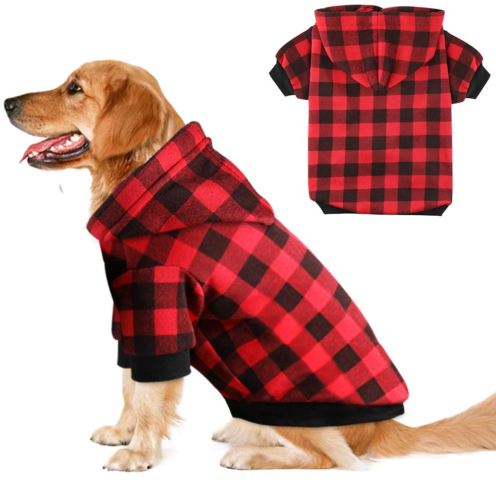 Blaoicni Plaid Dog Hoodie Sweatshirt Sweater