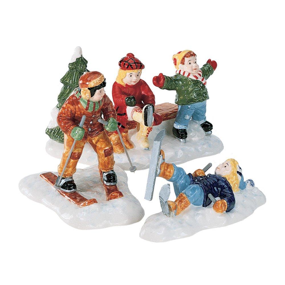 Department 56 Snow Village Skaters & Skiers - Set of 3