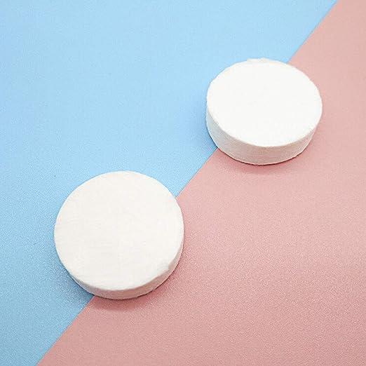 frcolor 50pcs toallas comprimidas toallitas pastillas Visage desechables biodegradables DIY para viajes: Amazon.es: Belleza