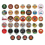 Coffee, Tea, & Hot Chocolate Variety Sampler Pack for Keurig K Cup Brewers, 40 Count (All unique cups, no duplicates)