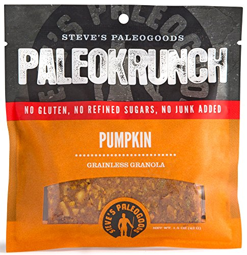 Steve's PaleoGoods, PaleoKrunch Bar Pumpkin, 1.5 oz (Pack of 6)