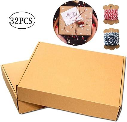 30 Piezas Kraft Papel Cajas Regalo, Kraft Marrón Cajas Regalo ...