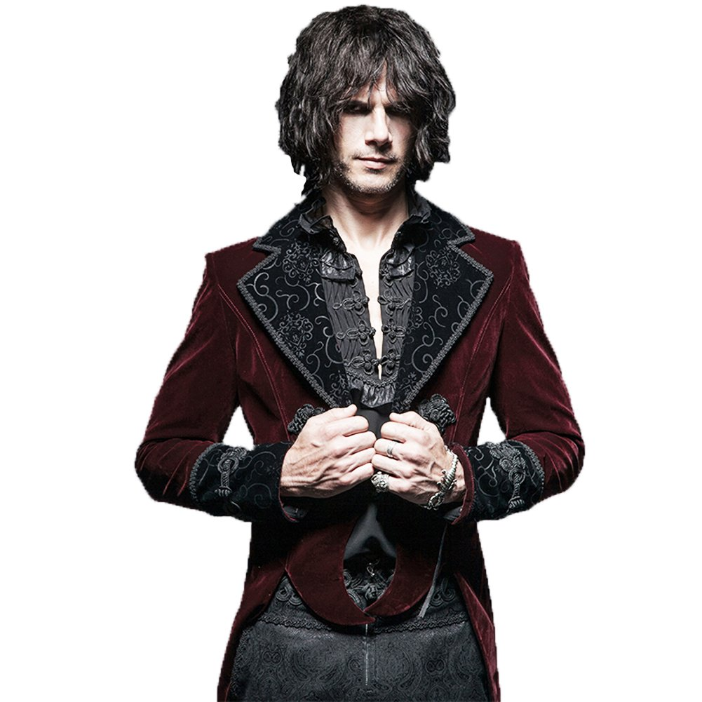 Steampunk Coat Gothic Clothing Swallow Tail Clothes Punk Winter Jacket Renaissance Costume