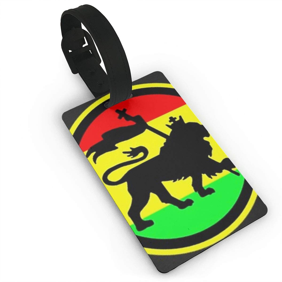 Jamaican Rasta Lion Luggage Tags Bag Travel Labels For Baggage Suitcase