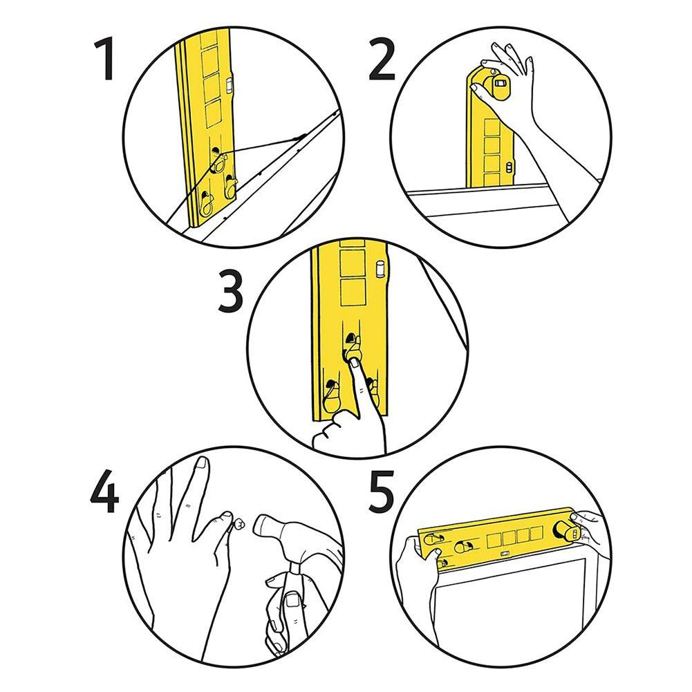 nivel de burbujas /æ/— Herramienta de medici/ón para marcos de fotos amarillo regla de nivel multifunci/ón color amarillo herramienta de mano