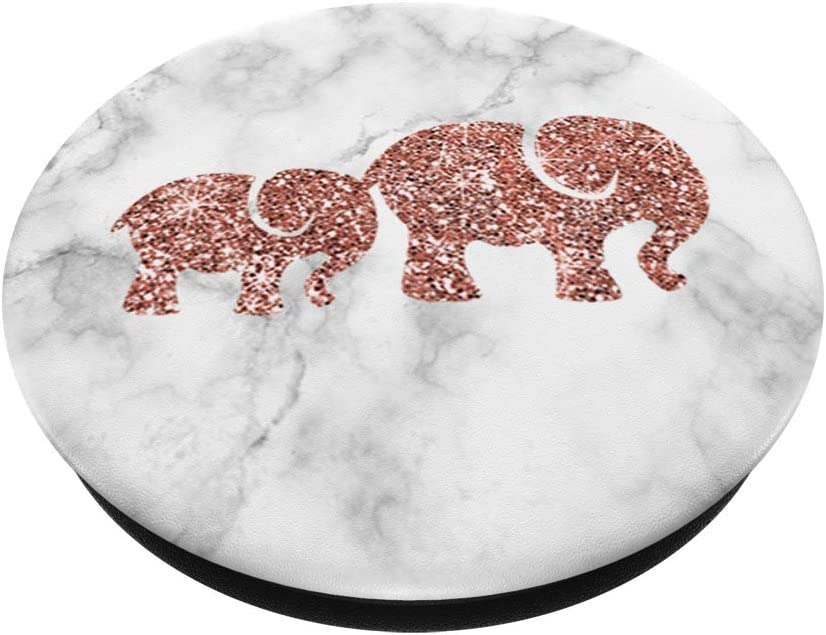 Watercolor Elephant Heart Girly Calf Baby Animal Lover Gift PopSockets Support et Grip pour Smartphones et Tablettes