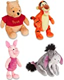Disney Store Original Winnie the Pooh Plush Set of 4 with Piglet, Tigger, Winnie and Eeyore