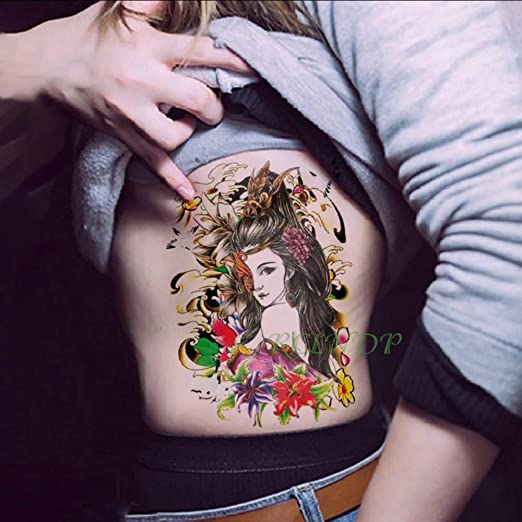 Impermeable Etiqueta Engomada del Tatuaje Temporal de Gran tamaño ...