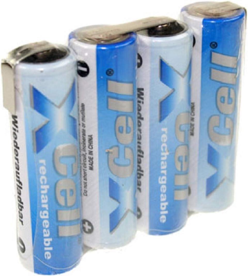 Juego de 4 baterías de 4,8 V 2700 mAh F1x4 Celdas AA LF Z-Form
