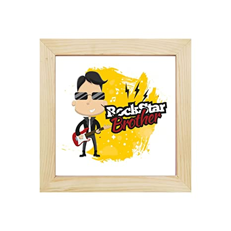 YaYa CafeTM 8x8 Inches Birthday Gifts For Brother Desk Clock Rock Star Canvas