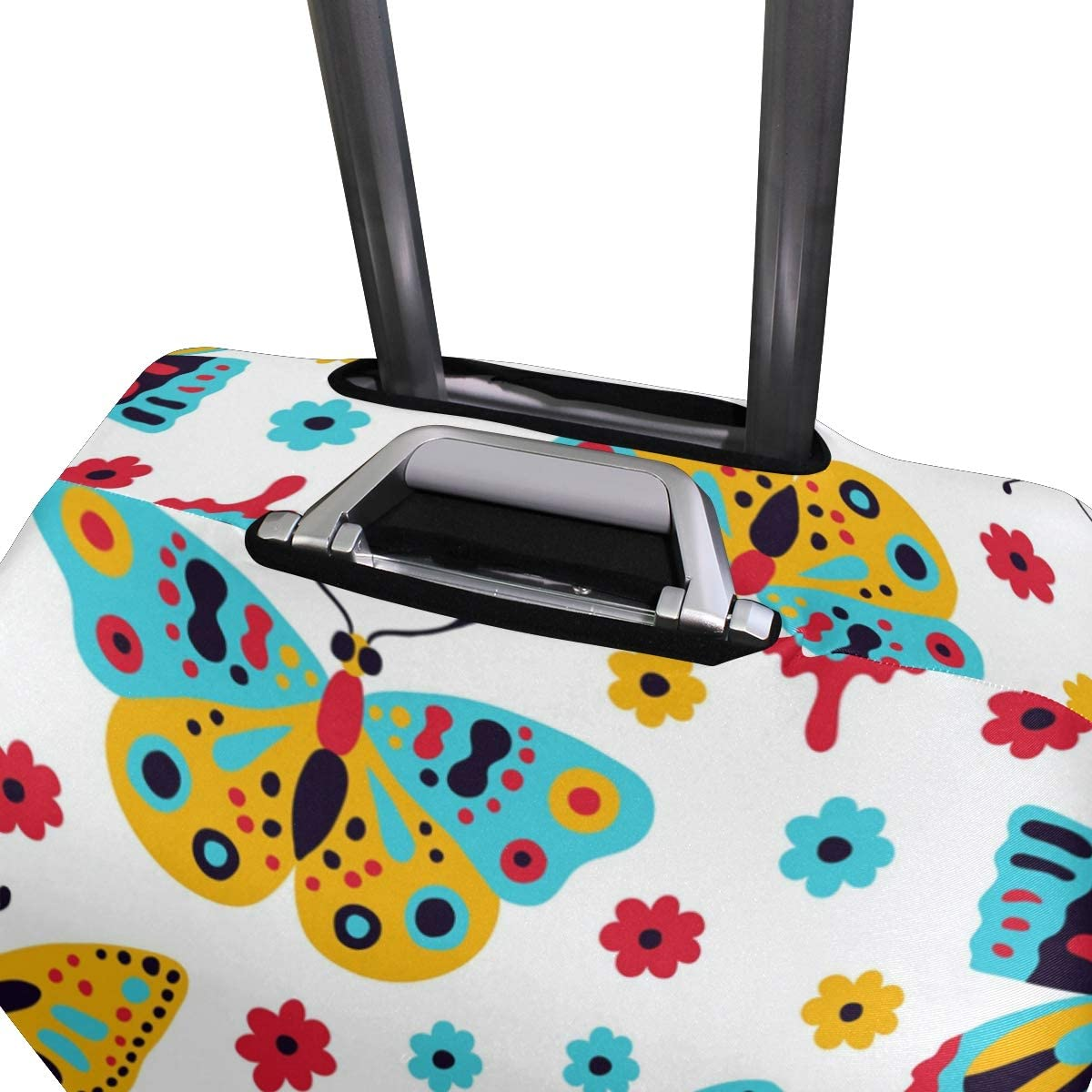 FOLPPLY Colorful Butterfly Luggage Cover Baggage Suitcase Travel Protector Fit for 18-32 Inch