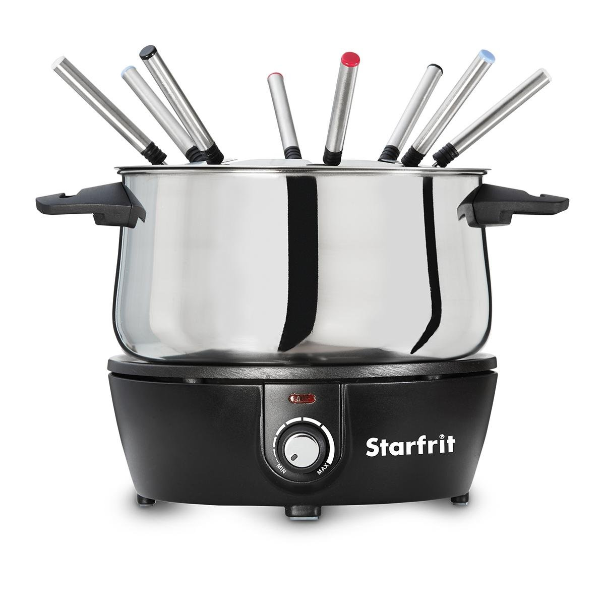 Starfrit 024700-004-0000 Electric Fondue Set, 9.8 9.7&quotx 7.9'', Black by Starfrit