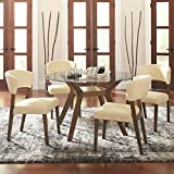 Cheap Coaster Home Furnishings Paxton 5-Piece Dining Set with Upholstered Nutmeg and Cream