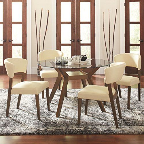 - Coaster Home Furnishings Paxton 5-Piece Dining Set with Upholstered Nutmeg and Cream