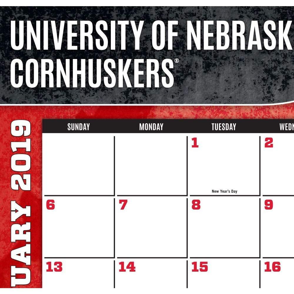 Turner 1 Sport Nebraska Cornhuskers 2019 22X17 Desk Calendar Office Desk Pad Calendar (19998061484) by Turner (Image #2)