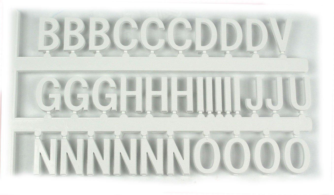 White Tabbee Letters - Helvetica 1 1/2'' Set of 198