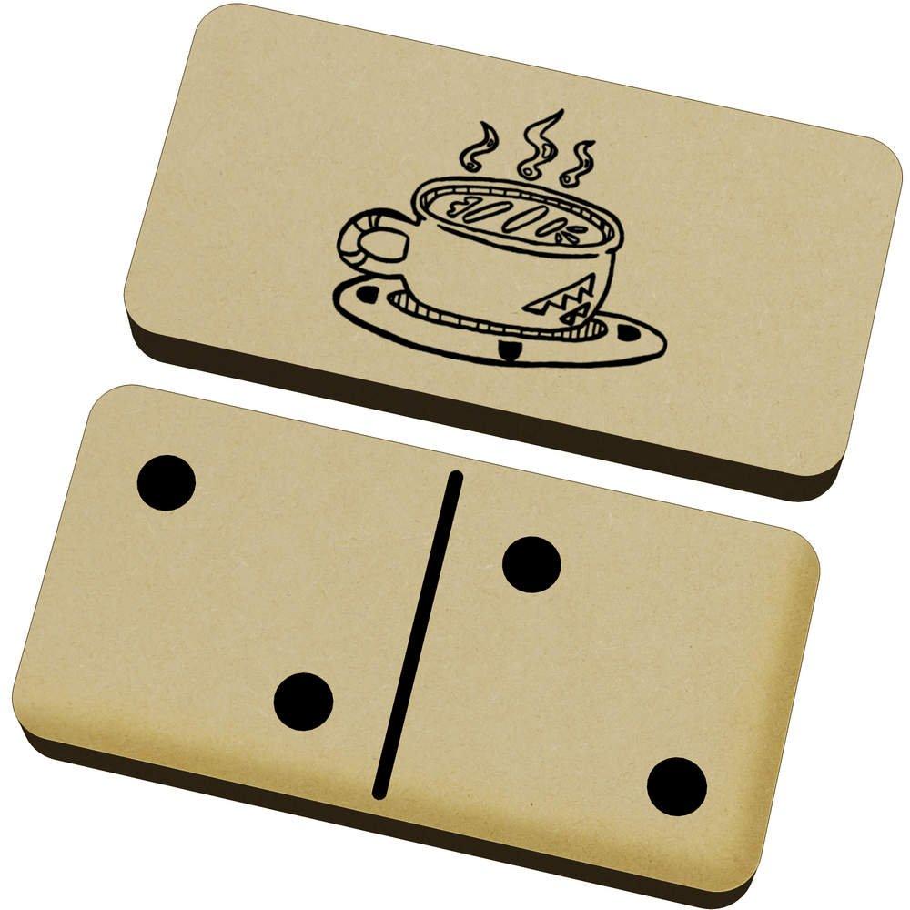 Azeeda Mug Of Coffee Domino Set & Box DM00011708 Games Dominoes