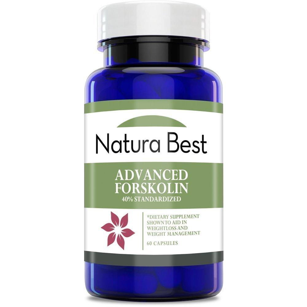 Naturabest Advanced Forskolin Extract 40% Standardized - Natural Forskolin Extract for Weight Loss, Appetite Suppressant, Metabolism Booster, Fat Burner for Men and Women