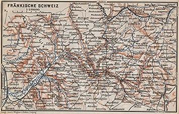 Fränkische Schweiz Karte.Fränkische Schweiz Fränkische Schweiz Topo Map Deutschland Karte