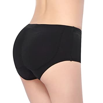 THANKSET Women's Shaper Panty with Silicone Butt Pads Booty Padded ...