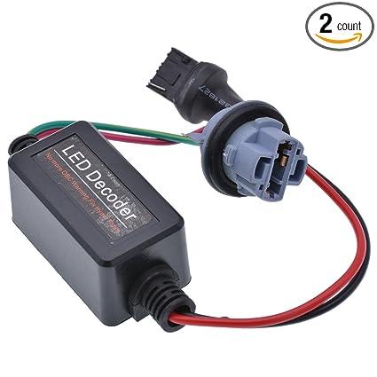 1 Pair 50w Led Light Load Resistor Flicker Decoders Warning Canceler Harness Load Resistor Anti Hyper Flashing Error Cancellerl Car Lights