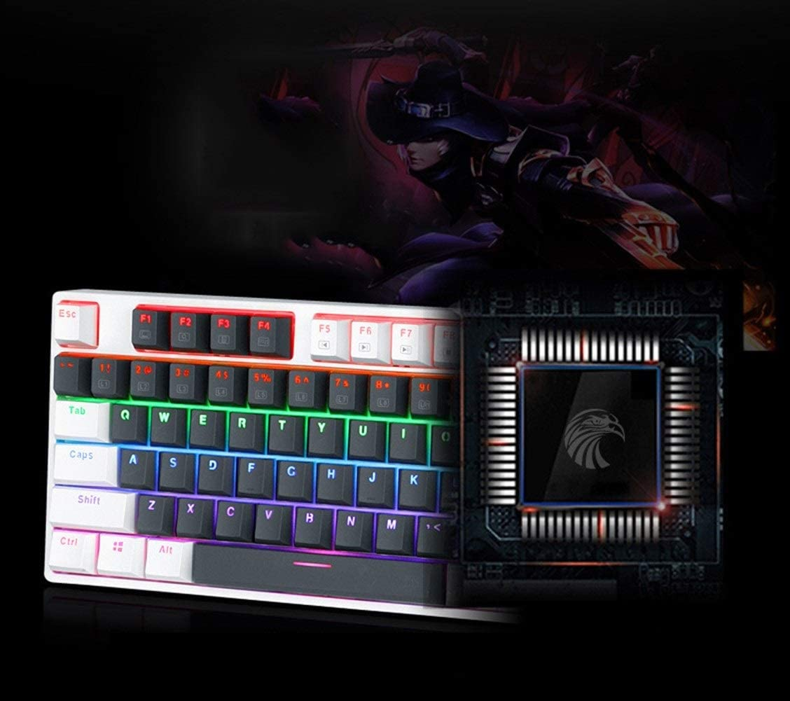 Color : White 2 CHENTAOCS X8100 Gaming Keyboard Interchangeable Shaft Products 104-key Green Axis Wired Mechanical Keyboard Dustproof and Waterproof
