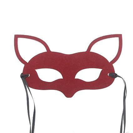 Skyllc Máscara de Zorro Lindo Máscara de Media Cara Máscara de Zorro Bonita Máscara de Cosplay