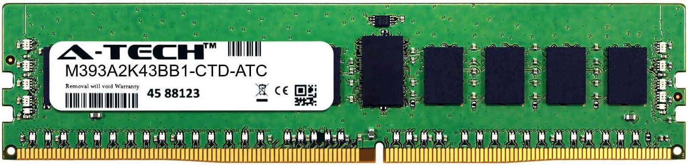 Single Server Memory Ram Stick A-Tech 16GB Replacement for Samsung M393A2K43BB1-CTD DDR4 2666MHz PC4-21300 ECC Registered RDIMM 2rx8 1.2v M393A2K43BB1-CTD-ATC