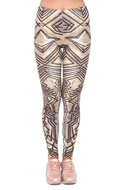 aba41caa5cac9 kukubird Printed Patterns Women's Yoga Leggings Gym Fitness Running Pilates  Tights Skinny Pants Size 6-