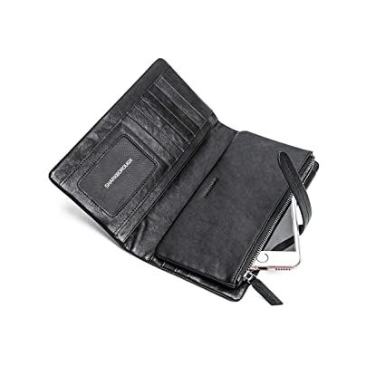 75c370907f85 Amazon.com: Kalmar RFID Travel Wallet Stealth Mode Leather Wallet ...