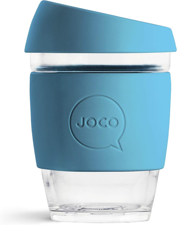 JOCO 12 oz Glass Reusable Coffee Cup