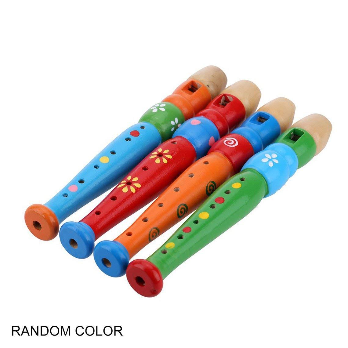Momorain 6 Agujeros port/átil de Madera Flauta flaut/ín de Sonido Instrumento Musical educaci/ón temprana Juguete Regalo para beb/é ni/ño ni/ños