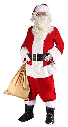 90a1c59f5f85 Amazon.com  ilishop Men s Santa Suit 10pc. Plus Size Christmas Adult ...